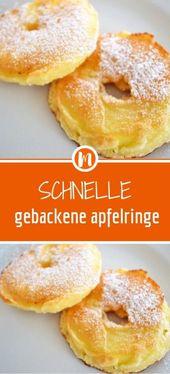 Fast baked apple rings   – FRÜHSTÜCK