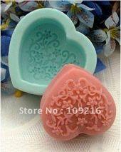 Aliexpress.com: Buy decorative pattern heart shaped silicone handmade …   – Formas sabonetes