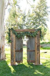 Im Freien rustikale elegante Hochzeit Hochzeit Ver…