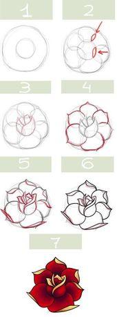 j'apprends à dessiner les fleurs