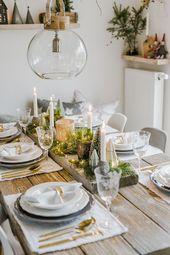 Christmas table decoration for Christmas Eve