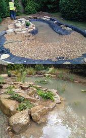Teich der wild lebenden Tiere in Esher, Surrey