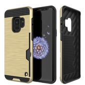 Galaxy S10 Lite Case, PUNKcase [SLOT Series] [Slim Fit] Dual-Layer Armor Cover w/Integrated Anti-Shock System, Credit Card Slot [Gold]