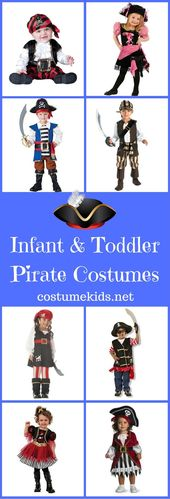 Infant and Toddler Pirate Costumes for Girls and Boys