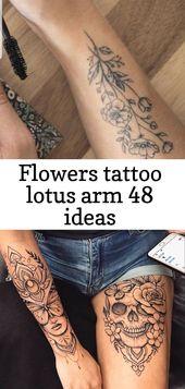 Blumen Tattoo Lotus Arm 48 Ideen