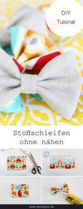 "DIY Challenge: ""No Sew Projects"" – fabric bows without sewing"