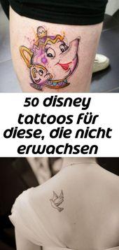 50 disney tattoos für diese, die nicht erwachsen werden wollen 13