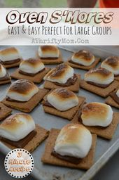 Oven Smores EASY Camping Recipe Made Right In Your Kitchen Fast And Easy SO GOOD Perfect For A Big Group Less Mess Popular Dessert Ide