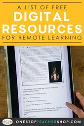 FREE Digital Teaching Resources for Remote Learning | One Stop Teacher Shop