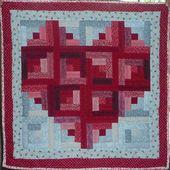 diamond log cabin quilt pattern free   Log Cabin H…
