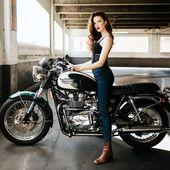 Triumph-Weinlese-Art-Café-Rennfahrer-Motorrad-Radfahrer-Baby. – Trium …   – Triumph motorcycles