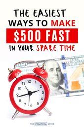 Verdienen Sie schnell 500 US-Dollar: 23 bewährte Möglichkeiten, um Geld zu verdienen (in einer Woche)