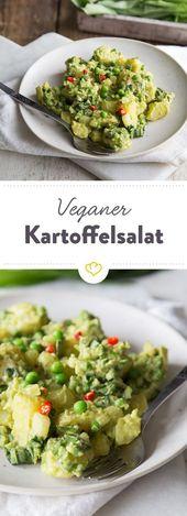 Salada de batata vegana com maionese de abacate   – vegane Rezepte