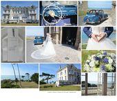mariage mer chic, thème de mariage bleu et blanc, mariage vue sur mer normandie…