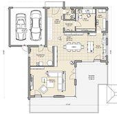 coller Grundriss für ein Doppelhaus mit Garage da…