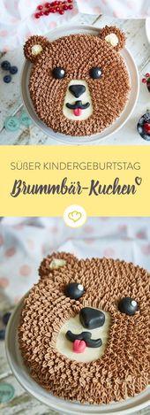 Cumpleaños de niños con pastel gruñón   – Kindergeburtstag