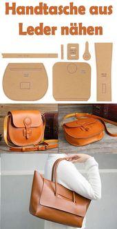 Handtasche aus Leder nähen- Kostenlose Anleitung & Schnittmuster für Anfänger