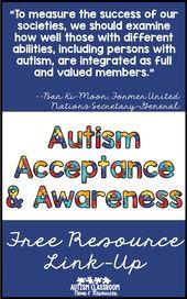 Autism Acceptance – Free Sources & Thanks