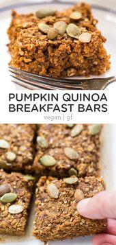 Kürbiskuchen-Quinoa-Frühstücksriegel