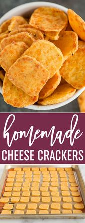 Spicy Southern Cheese Crackers – Easy homemade cheese crackers that are super bu…