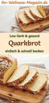 Low Carb Quarkbrot – gesundes Rezept zum Brot backen