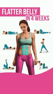 Flatter belly in 4 week #belly #pooch #fatburn #workout #exercise  belly fat workouts,  gym workouts