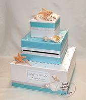 Beach- Ocean-Seashells theme Wedding Card Box-any colors