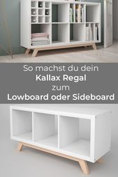Kallax shelf base made of wood / sloping feet