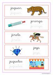 Palabras Que Empiezan Por La Letra J Letra J Actividades Con La Letra J Palabras Con N