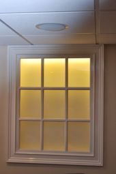Back Lit Faux Basement Window   Maybe For Front Of House Where Egress Window  Isn