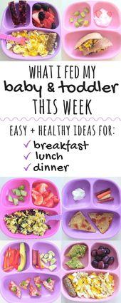 Gesunde Kleinkind Mahlzeit Ideen   Was ich diese Woche mit meinem Baby & Kleinkind gefüttert habe   In diesem po …   – Healthy Toddler Meals