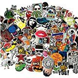 Rockroll Cool Graffiti Stickers Decals Vinyls Stickers for Laptop Helmet Luggage Skateboard Computer Phone Motorcycle Bicycle Car Waterproof Stickers Pack