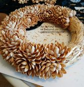 DIY Faux Succulent Pistachio Wreath