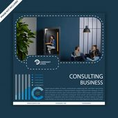 Business Consulting Social Media Post Template