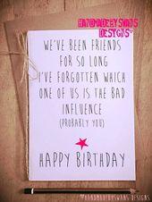 Lustige Geburtstagskarte, Geburtstagskarte Freund,…