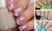 50 Flower Nail Designs für den Frühling – Mani Pedi – #en #Designs #Flower ……   – Nägel