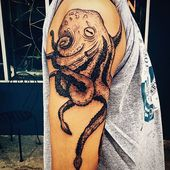 #octopus #kraken #krakentattoo #octopustattoo #sealife #naturetattoo #blxckink #…,  #blxcki…