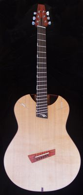 Soderlund Guitars Kestrel Large Body Multi Scale Short Baritone Acoustic In Honduran Rosewood And Red Cedar This Revolutionary Redesign Of The Skeleton Gitara