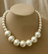Chunky pearl choker, trending choker, extra large pearl choker,boho pearl jewelry, large pearl necklace,short pearl necklace,wedding jewelry – Perlen