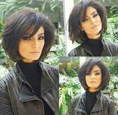 Good choice short haircuts with bangs – simple hairstyle