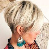 35 novos penteados em camadas curtas 2018   – Frisuren