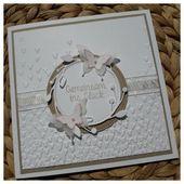 Stampin up, wedding card, vintage Hochzeitskarte, Papillon potpourri, Prägeform…