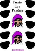 Fun Printable Pirate Crafts, Masks, Party Games