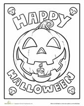 Colour the Completely satisfied Halloween