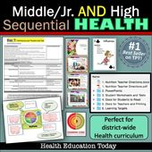 Middle/Jr. High AND High School Sequential Health Curriculum: 4 Health Programs – #Curriculum #Healt…