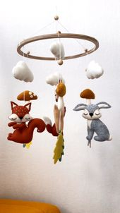 Baby mobile  – Forest baby mobile – Woodland mobile