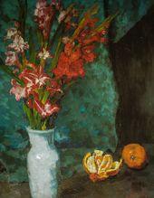 Carl Schuch – Gladiolen und Apelsinen, 1895 at Städtische Kunsthalle Mannheim Germany