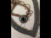 """V"" bling necklace – a bronze pony bead jewelry design – colgantes –"