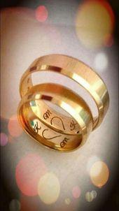 Liebe diese Idee für unsere Eheringe bands ♥ ️ Liebe diese i …   – Verlobungsringe
