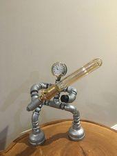 Steampunk Edison Light Roboter Star Wars Pipe / Schreibtischlampe Light | Sammlerstücke, Ho ….